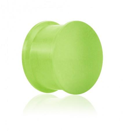 1 Paar Plug Silikon Neongrün UV