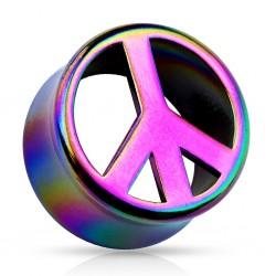 1 Paar Tunnel Peace Acryl
