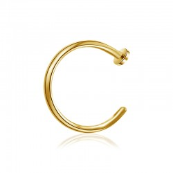 Nasenpiercing Ring offen gold