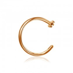 Nasenpiercing Ring offen rosegold