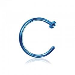Nasenpiercing Ring offen blau