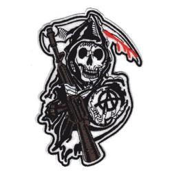 Patch Aufnäher Skull Anarchy