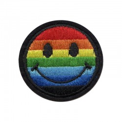 Patch Aufnäher Smiley Pride...