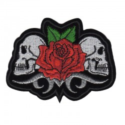 Patch Aufnäher Skull Rosa