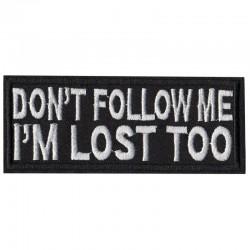 Patch Aufnäher Don´t follow me