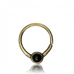 Septum Biegering Messing Onyx