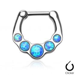 Septum Clicker Opal blau