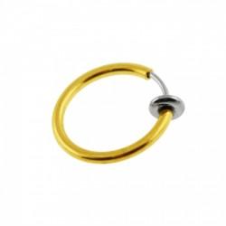 Fake Ring mit Feder gold