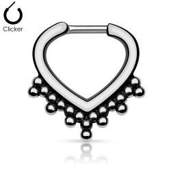 Septum Clicker silber