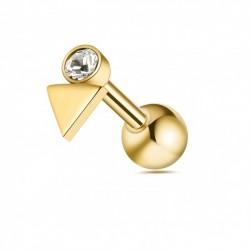 Tragus Helix Dreieck gold...