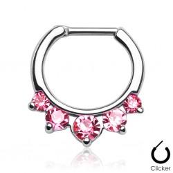 Septum Clicker Kristalle rosa