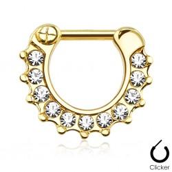 Septum Clicker gold Kristalle