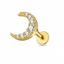 Labret Halbmond gold Stecker