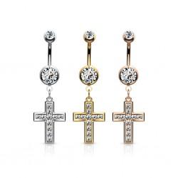 Bauchnabelpiercing Kreuz...