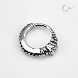 Segmentring Clicker Silber...