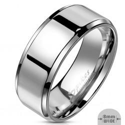Ring, Bandring silber...