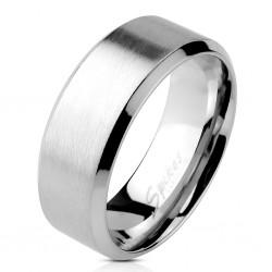 Ring, Bandring silber mattiert