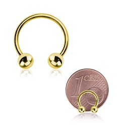 Micro Hufeisenring gold 0,8mm