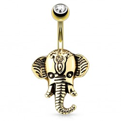 Bauchnabelpiercing Elefant...