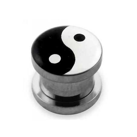 1 Paar Plug Chirurgenstahl Yin Yang