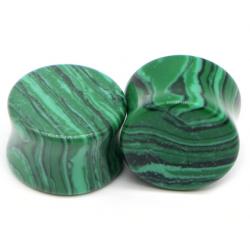 1 Paar Plug Stein grün...