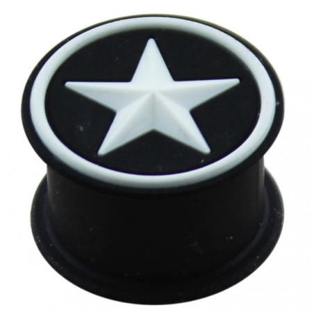 1 Paar Plug Silikon schwarz Stern