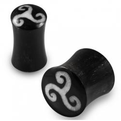 1 Paar Plug Horn Triskele