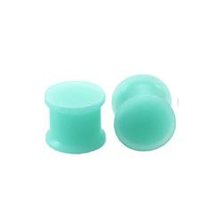 1 Paar Plug Silikon Turquoise