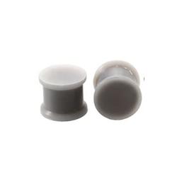 1 Paar Plug Silikon Grau