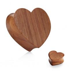 1 Paar Plug Holz Herz Saddle