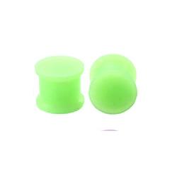 1 Paar Plug Silikon Hellgrün