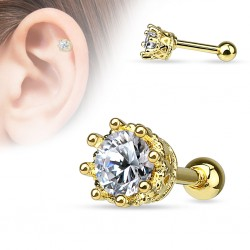 Helix Tragus Krone Gold...