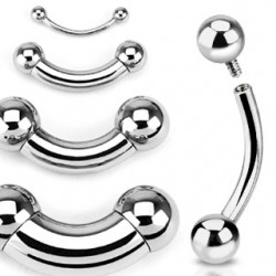 3mm - 6mm Curved Barbell...
