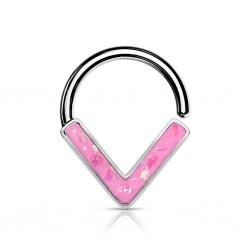 Septum Biegering Opal pink...