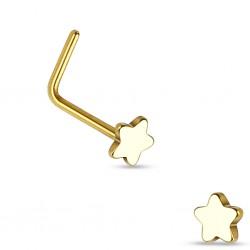 Nasenpiercing L-Form gold...