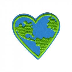Patch Aufnäher Earth Heart...