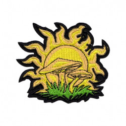 Patch Aufnäher Mushroom Sun