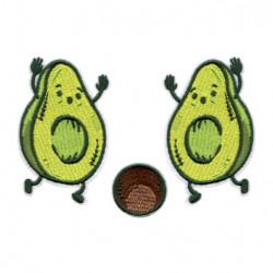 Patch Aufnäher 3er Set Avocado