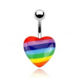 Bauchnabelpiercing Pride Herz