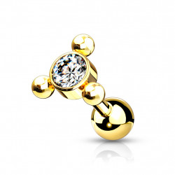 Helix Tragus Triangle Gold...