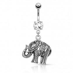 Bauchnabelpiercing Elefant...