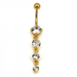 Bauchnabelpiercing Gold 4...