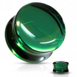 1 Paar Plug Glas grün Saddle