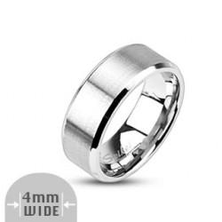 4mm Ring Bandring silber...