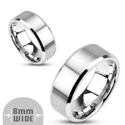 8mm Ring Bandring silber...