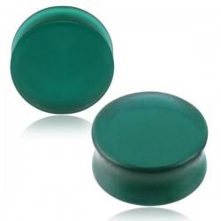 1 Paar Plug Glas mattgrün...