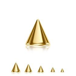 Spitz Chirurgenstahl gold