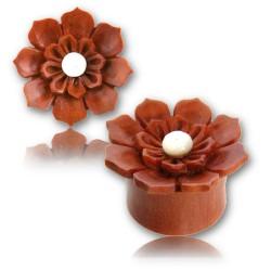 1 Paar Plug Holz Blume