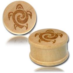 1 Paar Plug Holz Schildkröte