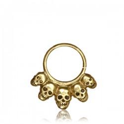 Dread Bead aus Metall Blume